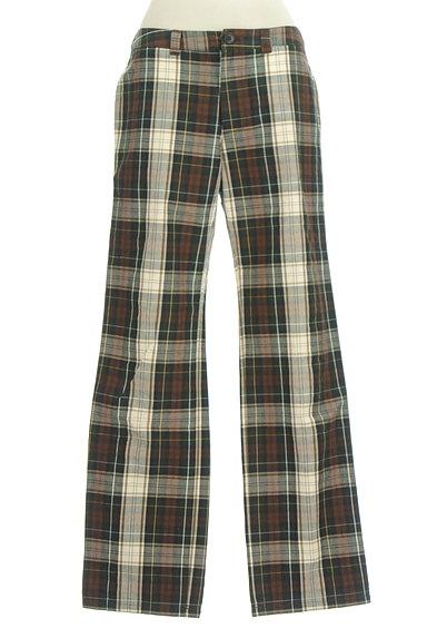 SM2(サマンサモスモス)の古着「チェック柄ストレートパンツ(パンツ)」大画像1へ