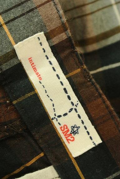SM2(サマンサモスモス)の古着「チェック柄ストレートパンツ(パンツ)」大画像6へ