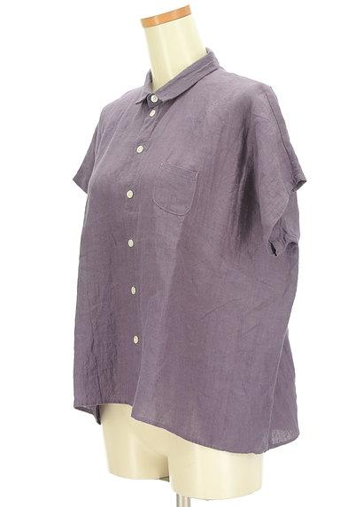 style+confort(スティールエコンフォール)の古着「ドルマンリネンシャツ(カジュアルシャツ)」大画像3へ