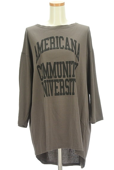 AMERICANA(アメリカーナ)の古着「ロゴロングカットソー(カットソー・プルオーバー)」大画像1へ