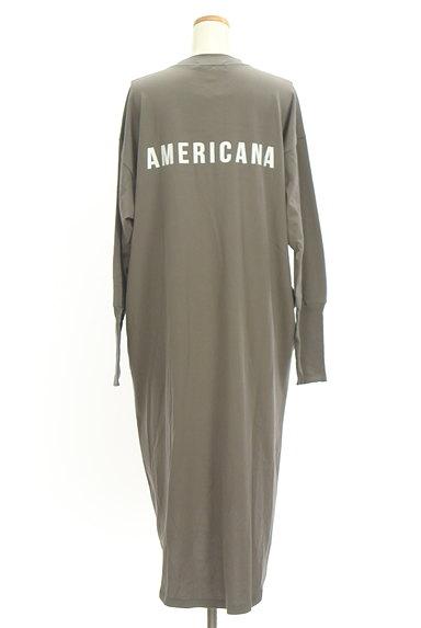 AMERICANA(アメリカーナ)の古着「サイドジップロゴプリントワンピース(ワンピース・チュニック)」大画像2へ