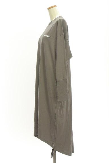 AMERICANA(アメリカーナ)の古着「サイドジップロゴプリントワンピース(ワンピース・チュニック)」大画像3へ