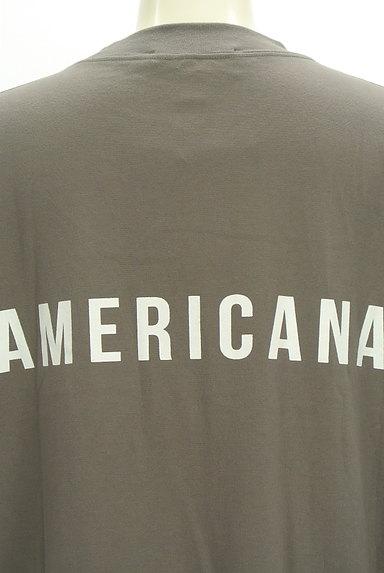 AMERICANA(アメリカーナ)の古着「サイドジップロゴプリントワンピース(ワンピース・チュニック)」大画像4へ