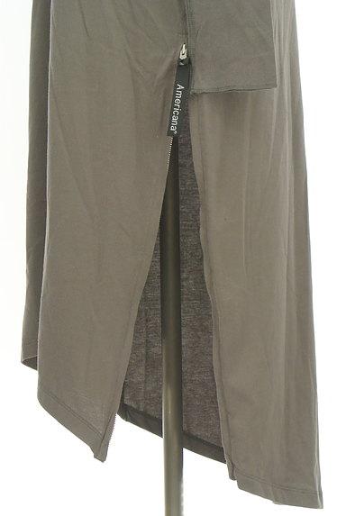 AMERICANA(アメリカーナ)の古着「サイドジップロゴプリントワンピース(ワンピース・チュニック)」大画像5へ