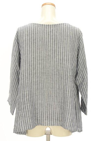 style+confort(スティールエコンフォール)の古着「ストライプリネン2WAYシャツ(カジュアルシャツ)」大画像2へ