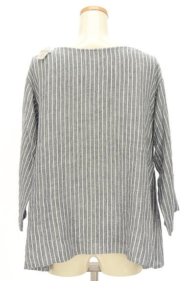 style+confort(スティールエコンフォール)の古着「ストライプリネン2WAYシャツ(カジュアルシャツ)」大画像4へ