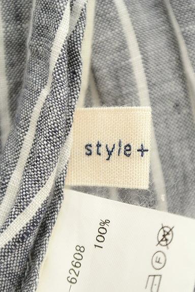style+confort(スティールエコンフォール)の古着「ストライプリネン2WAYシャツ(カジュアルシャツ)」大画像6へ