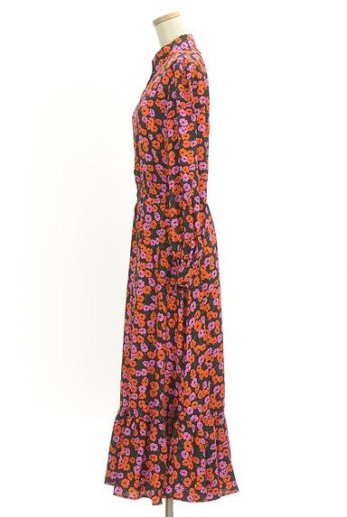 SLY(スライ)の古着「花柄ロングシャツワンピース(ワンピース・チュニック)」大画像3へ