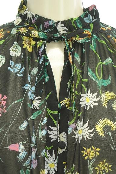 SLY(スライ)の古着「花柄ロングシフォンワンピース(ワンピース・チュニック)」大画像4へ