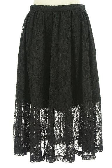 deicy(デイシー)の古着「裾シアー総レースフレアスカート(スカート)」大画像1へ