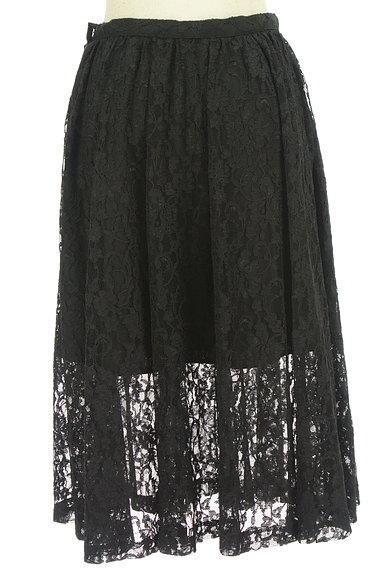 deicy(デイシー)の古着「裾シアー総レースフレアスカート(スカート)」大画像2へ