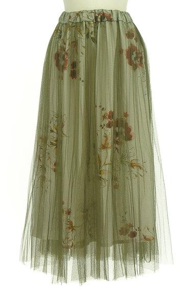 FREE'S MART(フリーズマート)の古着「花柄チュールロングスカート(ロングスカート・マキシスカート)」大画像1へ