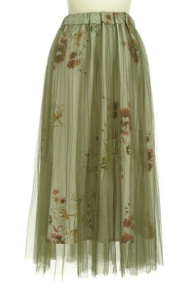 FREE'S MART(フリーズマート)の古着「花柄チュールロングスカート(ロングスカート・マキシスカート)」大画像2へ