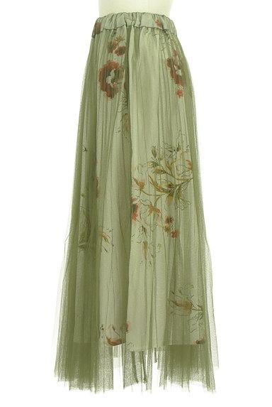 FREE'S MART(フリーズマート)の古着「花柄チュールロングスカート(ロングスカート・マキシスカート)」大画像3へ