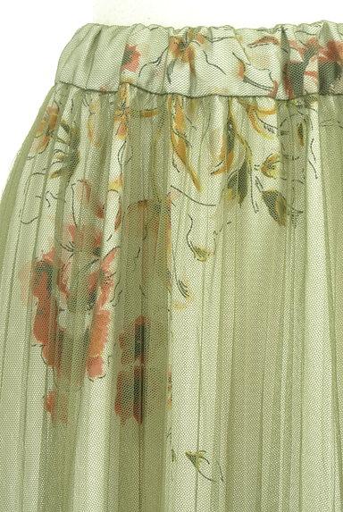 FREE'S MART(フリーズマート)の古着「花柄チュールロングスカート(ロングスカート・マキシスカート)」大画像4へ