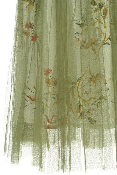 FREE'S MART(フリーズマート)の古着「花柄チュールロングスカート(ロングスカート・マキシスカート)」大画像5へ