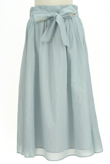 BLUE LABEL CRESTBRIDGE(ブルーレーベル・クレストブリッジ)の古着「ウエストリボンフレアスカート(ロングスカート・マキシスカート)」大画像1へ