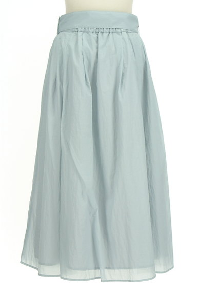 BLUE LABEL CRESTBRIDGE(ブルーレーベル・クレストブリッジ)の古着「ウエストリボンフレアスカート(ロングスカート・マキシスカート)」大画像2へ