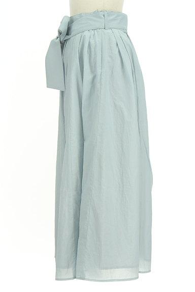 BLUE LABEL CRESTBRIDGE(ブルーレーベル・クレストブリッジ)の古着「ウエストリボンフレアスカート(ロングスカート・マキシスカート)」大画像3へ
