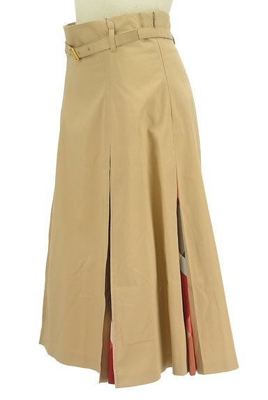 BLUE LABEL CRESTBRIDGE(ブルーレーベル・クレストブリッジ)の古着「ベルト付きチェック柄タックフレアスカート(ロングスカート・マキシスカート)」大画像3へ