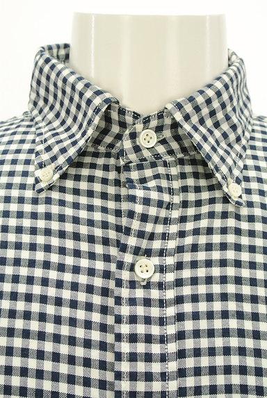 45r(45アール)の古着「ギンガムチェック柄長袖シャツ(カジュアルシャツ)」大画像4へ