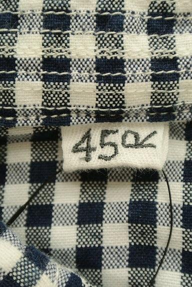 45r(45アール)の古着「ギンガムチェック柄長袖シャツ(カジュアルシャツ)」大画像6へ