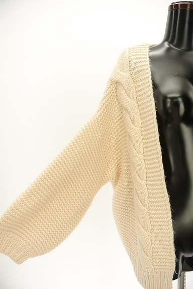 studio CLIP(スタディオクリップ)の古着「ケーブル編みローゲージカーディガン(カーディガン・ボレロ)」大画像4へ