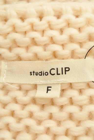 studio CLIP(スタディオクリップ)の古着「ケーブル編みローゲージカーディガン(カーディガン・ボレロ)」大画像6へ