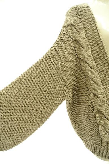studio CLIP(スタディオクリップ)の古着「ケーブル編みルーズカーディガン(カーディガン・ボレロ)」大画像4へ