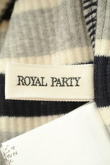 ROYAL PARTY(ロイヤルパーティ)の古着「ボーダーリブロングニットワンピ(ワンピース・チュニック)」大画像6へ