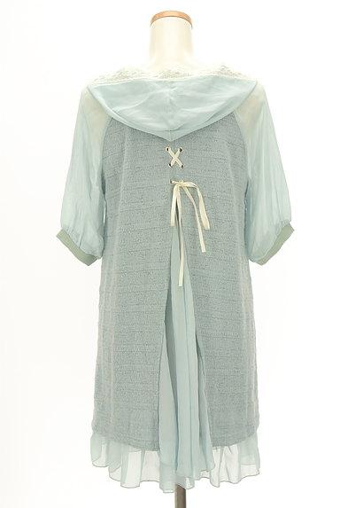 axes femme(アクシーズファム)の古着「袖シースルーフード付き異素材半袖チュニック(カットソー・プルオーバー)」大画像2へ