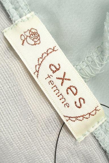 axes femme(アクシーズファム)の古着「袖シースルーフード付き異素材半袖チュニック(カットソー・プルオーバー)」大画像6へ
