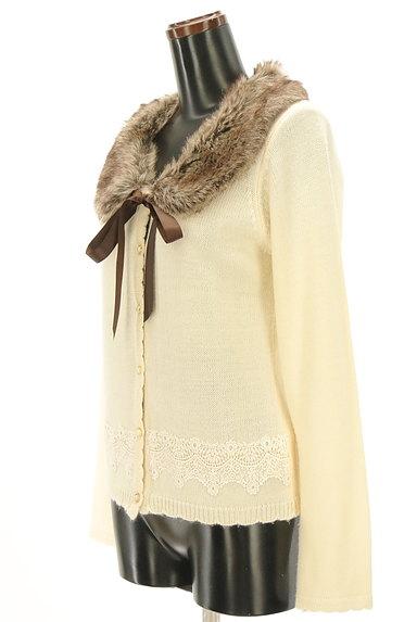 axes femme(アクシーズファム)の古着「刺繍レース入りファーカーディガン(カーディガン・ボレロ)」大画像3へ