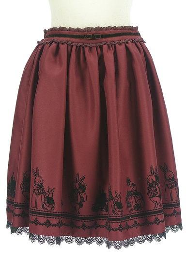 axes femme(アクシーズファム)の古着「ウサギフロッキープリントフレアスカート(スカート)」大画像1へ