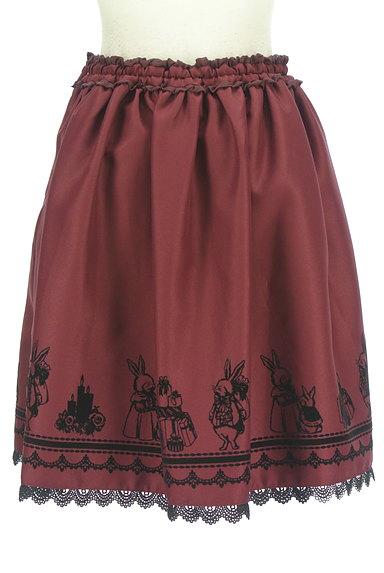 axes femme(アクシーズファム)の古着「ウサギフロッキープリントフレアスカート(スカート)」大画像2へ