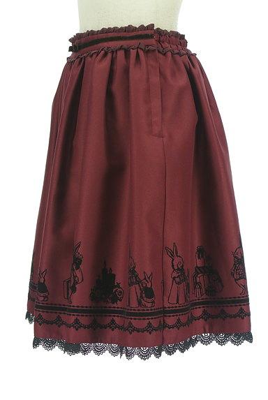 axes femme(アクシーズファム)の古着「ウサギフロッキープリントフレアスカート(スカート)」大画像3へ