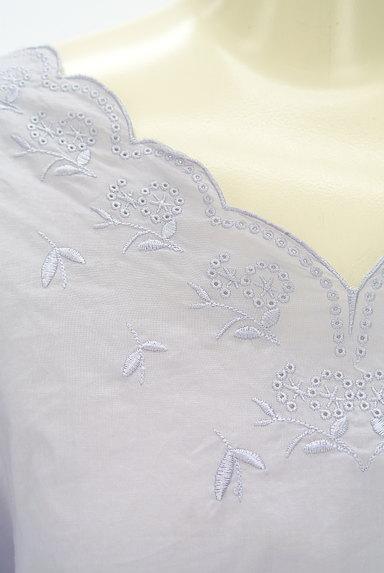 SM2(サマンサモスモス)の古着「刺繍スカラップカットソー(カットソー・プルオーバー)」大画像4へ