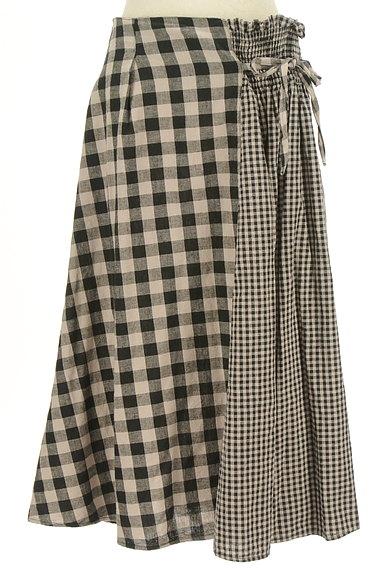 SM2(サマンサモスモス)の古着「チェック柄切替ミモレ丈スカート(ロングスカート・マキシスカート)」大画像1へ