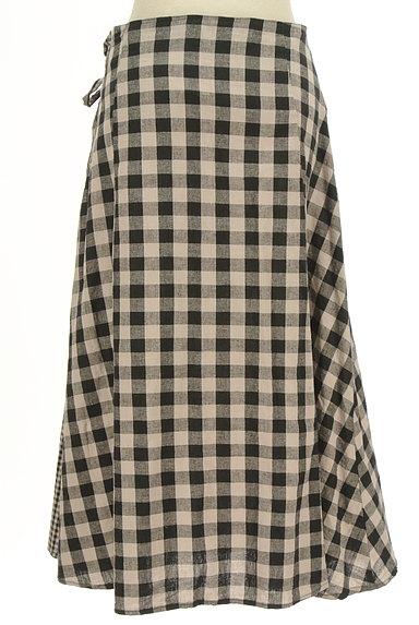 SM2(サマンサモスモス)の古着「チェック柄切替ミモレ丈スカート(ロングスカート・マキシスカート)」大画像2へ