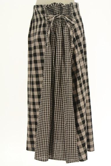 SM2(サマンサモスモス)の古着「チェック柄切替ミモレ丈スカート(ロングスカート・マキシスカート)」大画像3へ