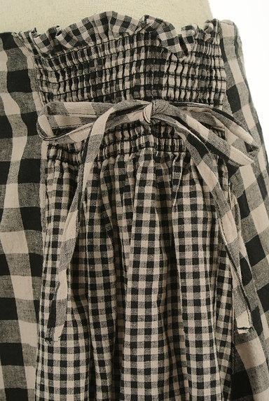 SM2(サマンサモスモス)の古着「チェック柄切替ミモレ丈スカート(ロングスカート・マキシスカート)」大画像4へ