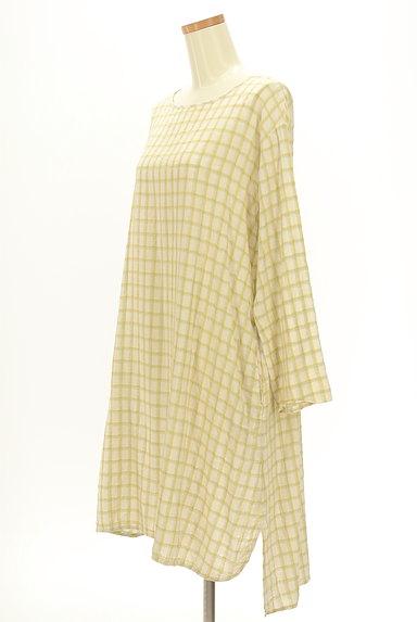 SM2(サマンサモスモス)の古着「ルーズシルエット長袖チェック柄ワンピース(ワンピース・チュニック)」大画像3へ