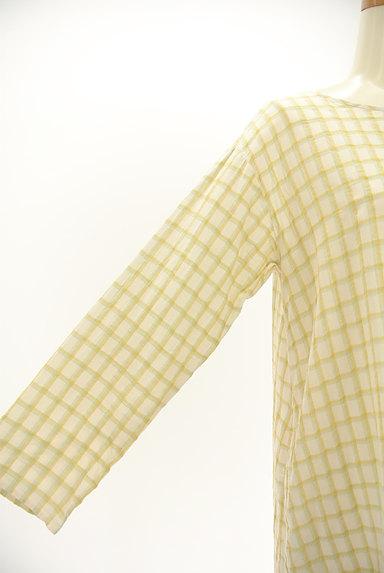 SM2(サマンサモスモス)の古着「ルーズシルエット長袖チェック柄ワンピース(ワンピース・チュニック)」大画像4へ