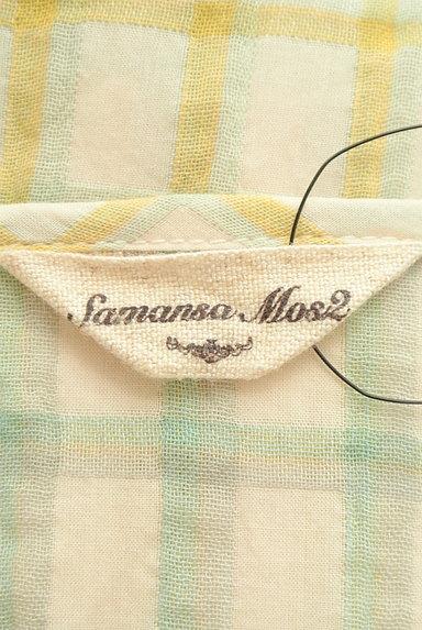 SM2(サマンサモスモス)の古着「ルーズシルエット長袖チェック柄ワンピース(ワンピース・チュニック)」大画像6へ