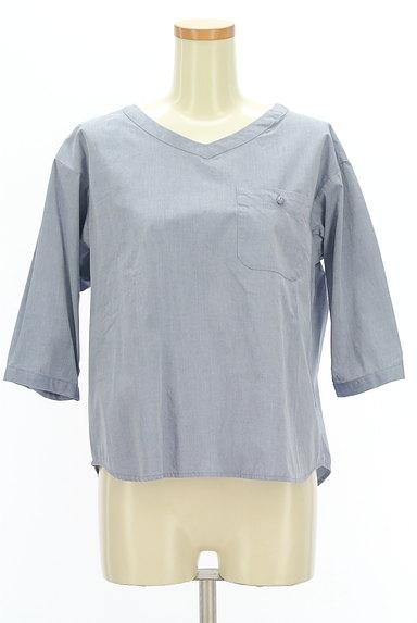 SM2(サマンサモスモス)の古着「バックリボン七分袖カットソー(カットソー・プルオーバー)」大画像1へ