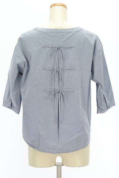 SM2(サマンサモスモス)の古着「バックリボン七分袖カットソー(カットソー・プルオーバー)」大画像2へ