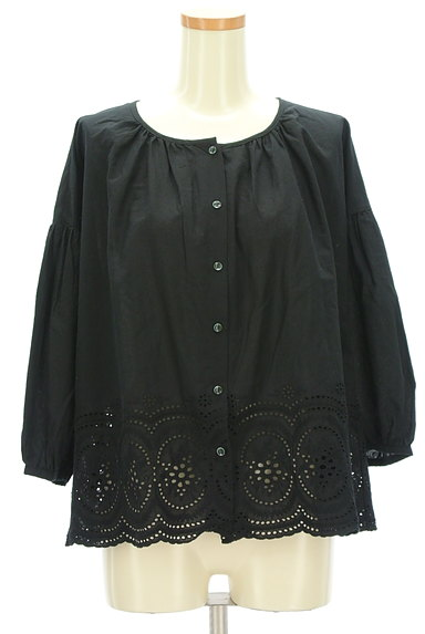 SM2(サマンサモスモス)の古着「カットワークレースボリューム袖カットソー(ブラウス)」大画像1へ