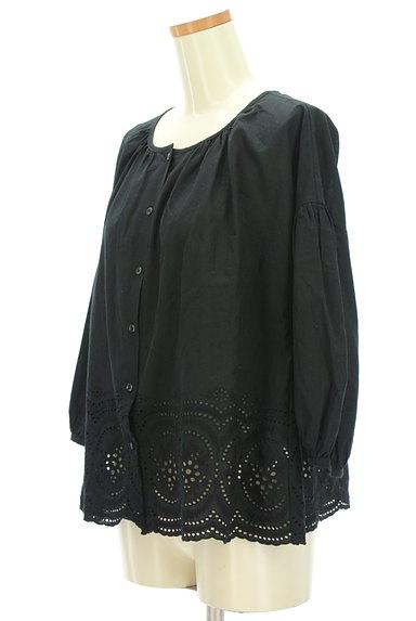 SM2(サマンサモスモス)の古着「カットワークレースボリューム袖カットソー(ブラウス)」大画像3へ