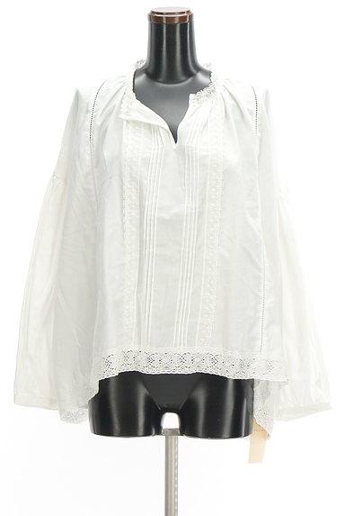SM2(サマンサモスモス)の古着「ボリューム袖スキッパーカラーカットソー(ブラウス)」大画像1へ
