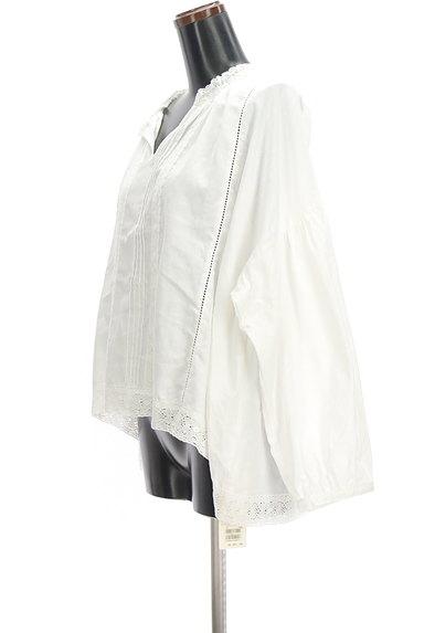 SM2(サマンサモスモス)の古着「ボリューム袖スキッパーカラーカットソー(ブラウス)」大画像3へ